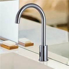Sensor Faucets - Brass Sensor Chrome Finish Bathroom Sink Faucet