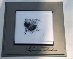 """Trauer & Beileid - Trauerkarte """"aufrichtige Teilnahme"""" ... - ein Designerstück von sillyspaperdesign bei DaWanda"""