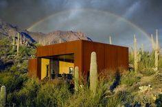 Maison nomade dans le désert