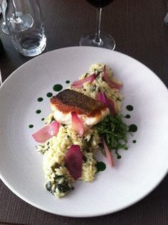 Cod, crusted with orzo, and risotta in Paris, France #travel