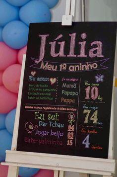 Chalkboard (Painel de pvc de Giz) Personalizado - Personalize como quiser - Pode colocar como decoração da festa, chá de bebê, datas especiais ou até mesmo como decoração no quarto da criança! -em adesivo de vinil aplicado no pvc.