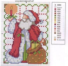 Cross Stitch Santa Pattern