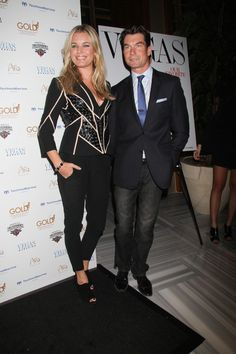 Rebecca Romijn and Jerry OConnell party in Las Vegas