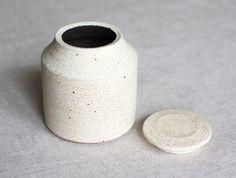 White Tea Container by Shinobu Hashimoto