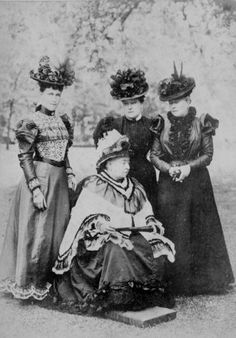 Queen Victoria with, from left, grand-daughter Princess Heinrich of Prussia, daughters Princess Henry of Battenberg and Empress Friedrich of Germany, 1897