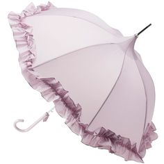Lisbeth Dahl Ruffle Umbrella, Violet ($33) ❤ liked on Polyvore featuring accessories, umbrellas, vintage, lisbeth dahl, lisbeth dahl umbrella, ruffle umbrella, victorian umbrella and vintage umbrella