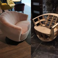 Sofa Furniture, Furniture Projects, Furniture Design, Wooden Sofa Set Designs, Dining Chair Makeover, Oak Dining Chairs, Living Room Sofa Design, Puff, Woodworking Furniture