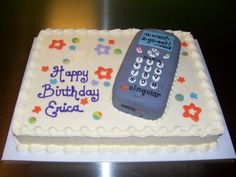 Cell Phone Cake By: Sweet Celebrations Birthday Cake Girls, 2nd Birthday, Birthday Cakes, Eat And Go, Hello Kitty Cake, Girl Cakes, Cute Cakes, Celebrations, Breakfast Recipes