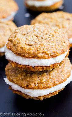 Homemade Little Debbie Oatmeal Creme Pie recipe. They are easy to make and taste even better than the original.