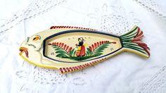 Henriot Quimper Français vintage poisson plat par froufrouretro