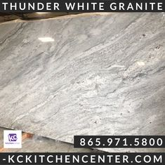Budget Friendly Mid Price Range Exotic Granite from KC Kitchen Center Thunder White Granite, White Granite Countertops, Creative Class, Quality Kitchens, Family Kitchen, Kitchen Remodel, Exotic, Budget, Range