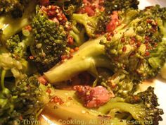 Broccoli with Bacon and Mustard with Lemon Soy Glazed Turkey Cutlets and Winter Rice Pilaf http://thymeforcooking.com/2014/jan/jan22.html #dailymenu