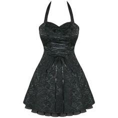black dark goth strapless wedding corset dresses | BLACK DAMASK GOTHIC STEAMPUNK EMO PARTY PROM DRESS