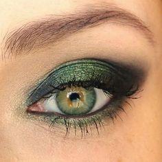 trucco verde occhi marroni palpebra cadente - Cerca con Google