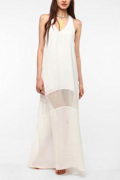 UrbanOutfitters.com > ERA By Kymerah Silky Chiffon Paneled Maxi Dress