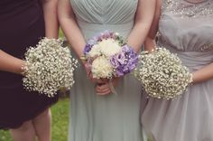 Budget DIY Mint Lilac Village Hall Wedding Sage Dress Bridesmaid Bouquet Baby Breath http://www.rebeccadouglas.co.uk/blog/