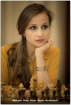 Just Chess: Qatar Masters Open 2015 – beauty and chess: Sopiko… Just Chess: Qatar Masters Open 2015 – Schönheit und Schach: Sopiko … Masters, One Word Art, Chess Players, Chess Pieces, Georgian, Pretty Girls, Selfie, Iranian, Ideas