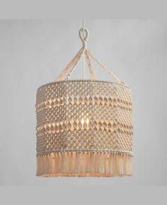 Bohemian chandelier! - Natural Macrame Deja Drum Pendant Shade #affiliate