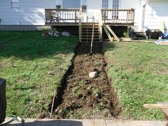 We Built Steps on a Slope - As some of you know, we built our own patio. We then wanted a grand walkway which lead from our deck to the patio. The hillside we n
