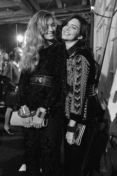 Gigi Hadid & Kendall Jenner - Balmain x H&M Collection Launch