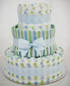 impressive nappy cake