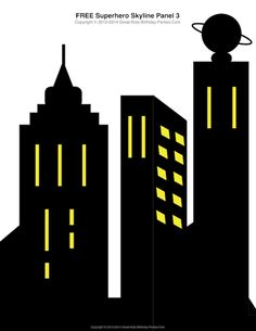 Superhero Printables - Batman Printables - Ideas of Batman Printables - Free Superhero Printables building skyline 4 different building patterns. Batman Birthday, Batman Party, Superhero Birthday Party, Birthday Parties, Birthday Board, 4th Birthday, Superhero Classroom Theme, Classroom Themes, Superhero Door