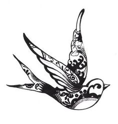 henna swallow tattoo, cute! maybe on the side of the foot