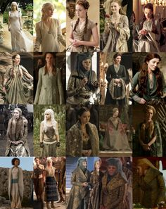 Nearly all of the costumes of the ladies of Game of Thrones