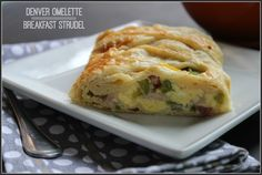 Denver Omelet Breakfast Strudel
