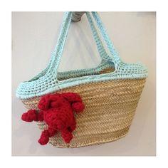 Borsa Antonella - paglia e uncinetto Antonella bag - straw and crochet www.ofeliatuttotorna.com