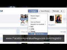 http://FacebookparalosNegocios.com/Registro Como crear listas de contactos en Facebook