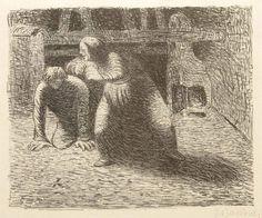 "Ernst Barlach (1870–1938), ""Verfluchung"" - Lithografie/Papier"