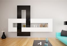 BlackNWhite- Interlaced - an addition.  Simple sophisticated walldesign . Use it anywhere forany room