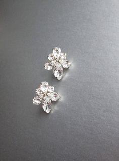 Braut Kristall Ohrringe Swarovski Kristall Braut von SabinaKWdesign
