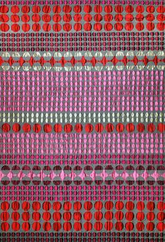 Rubina Fabric. Kaleidoscope Collection. Cotton, Polyester, Acrylic. Margo Selby. Textile Design
