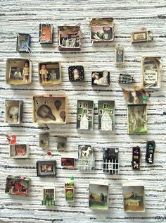 mano k. Kunstboxen, alle Januar 2012 mano k. art boxes, all of jan 2012 mano k. Matchbox Crafts, Matchbox Art, Altered Boxes, Altered Art, Mixed Media Collage, Collage Art, Collages, Instalation Art, Gata Marie