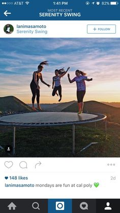 Someone Puts A Trampoline On A Hill And What Happens Next Is Incredible Happy City, San Luis Obispo, Serenity, Hiking, The Incredibles, Community, America, Shit Happens, Fun