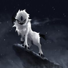 Absol is one of my favorites. I tend to like a lot of Dark and Steel-type Pokemon for some reason. Pokemon Team, Pokemon Fan Art, Pokemon Fusion, Pokemon One, Ghost Pokemon, Dark Type Pokemon, Chibi, Kino Film, Pokemon Pictures