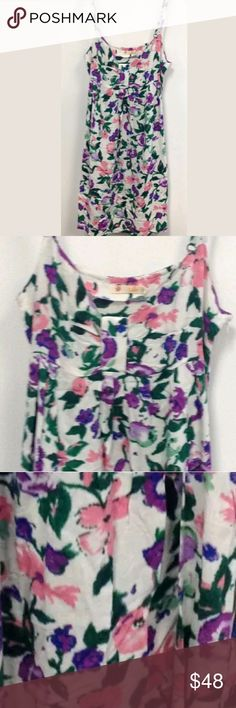 Anthropologie Floral Sun Dress BRAND NEW FLORAL SUN DRESS BY TULLE FOR ANTHROPOLOGIE  Brand New; never worn. Without tags. A fun and vibrant spring dress featuring a modern take on a classic floral print.  Size Large.   50% Cotton & 50% Rayon   32\