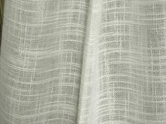 Linen look semi sheer curtains fabric 118 inches wide by Eleptolis