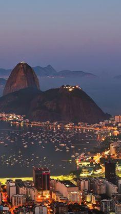Harbor Of Rio De Janeiro By Night!