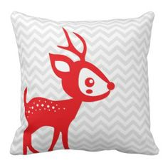 Red Reindeer Pillow #christmas #home #americanmojo #americanmojo  Each pillow purchased helps employ and enrich the lives of single women and their children <3
