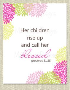 Items Similar To Proverbs Scripture Art With Flowers Wall Printable JPEG Or PDF File On Etsy