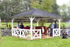 garten pavillon selber bauen mit freunden sammeln