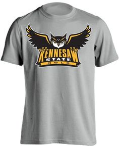 2f02d23435e Kennesaw State Owls Adult Grey T-Shirt Scrappy KSU Tee Multiple Sizes   SouthlandGraphicsApparel  KennesawStateOwls