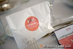 """favors: homemade mexican wedding cookies with tag saying """"so sweet of you to come"""""""