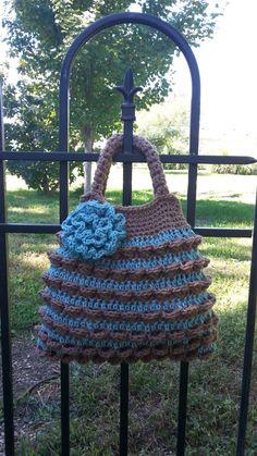 #Crochet Pocket Stitch Handbag Purse #TUTORIAL
