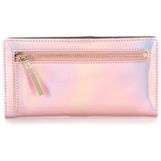 kate spade new york Rainer Lane Collection Stacy Continental Wallet ($98) ❤ liked on Polyvore featuring bags, wallets, kate spade bags, kate spade, pink wallet, continental wallets and pink bag