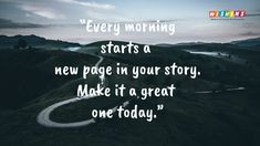 Motivational Good Morning Quotes are inspiring words which encourage everyone to welcome new fresh morning with new hope, spirit, passion, and liveliness. Motivational Good Morning Quotes, Morning Start, Your Story, Beautiful Images, Encouragement, Words, Horse