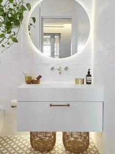 Block couple's shock bathroom 'fail' The Block Room Reveals, The Block Bathroom, The Block Australia, The Block Nz, Ensuite Room, Marble Look Tile, Feature Tiles, Floating Vanity, Bathroom Inspiration